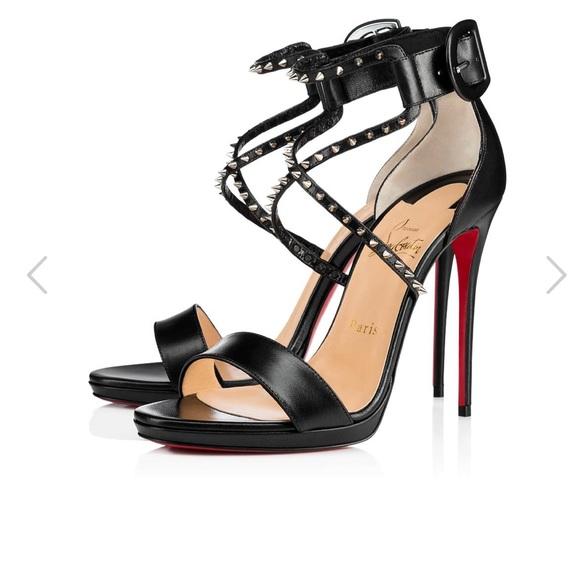 Christian Louboutin Choca Lux 120mm black heels